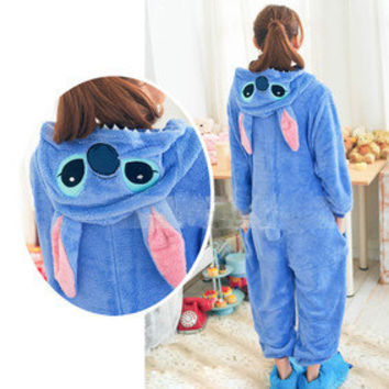 New Kigurumi Unisex Adult Cosplay Costume Pajamas Fancy Hoodie Animal Onesie S-L