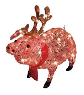 30in icy lighted christmas pig with from kmart cold outside - Trim a home outdoor christmas decorations ...