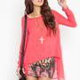 Drape Tail Blouse - Coral  in  What's New at Nasty Gal