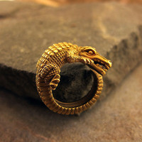 Gold Kieselstein-Cord Crocodile Ring | Shop | Erstwhile Jewelry Co.