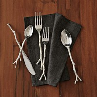 Twig Flatware 5-pc. Set - Silver