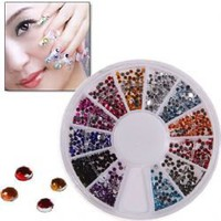 Glitter Nail Sticker with Round Turning Case for Nail Art