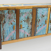Solid Reclaimed Teak TV Console w/ Storage by EcologicaMalibu