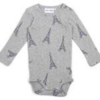 Grey Eiffel Tower Onesuit (4-9 months)