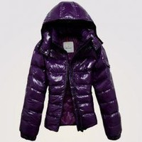 Moncler Badia Down Jacket Purple