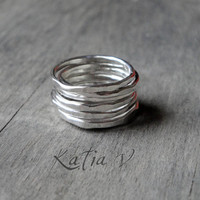 Stacking Rings  set of 7 sterling silver by katerinaki1977 on Etsy