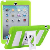 Amazon.com: i-Blason ArmorBox Stand Series For Apple iPad Mini 7.9 Inch 2 Layer Convertible Hybrid Kids Friendly Protection Kick Stand Case (Multi Color) - Green / White: Cell Phones & Accessories