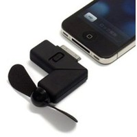 Black Newest Cool Dock Fan Gadgets Cooler for iPhone 4: Cell Phones & Accessories