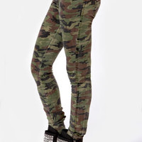 Tripp NYC Mini Camo Print Skinny Pants