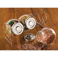 Glass Containers With Stand from Jannie's LiveDeals