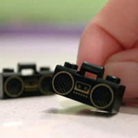 $15.00 Ghetto Blaster Cuff Links LEGO by GenTerro on Etsy