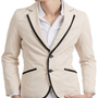 Amazon.com: Doublju Mens Casual 2 Button Blazer Jacket: Clothing