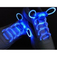 Led Shoelace Light up Shoe Flashing Blue Color 1 Pair, + 2 Extra Cr2032 Battery: Everything Else