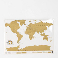 Scratch Off World Map- Gold One