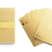 kate spade | home decor gifts - nifty gifts gold playing cards