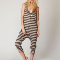 Nightcap Linen Striped Romper at Free People Clothing Boutique