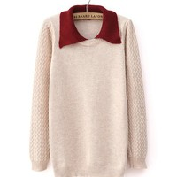 *Free Shipping* Beige Women Knitting Sweater TBHTK1204be from clothingloves
