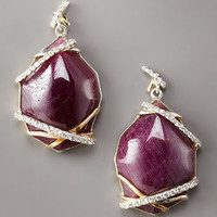 KARA by Kara Ross - Ruby & Sapphire Drop Earrings, Small - Bergdorf Goodman