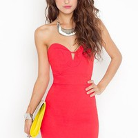 Serena Sweetheart Dress - Red in  What's New at Nasty Gal