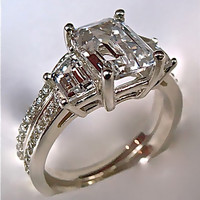 2.94Ct Emerald Cut Engag...