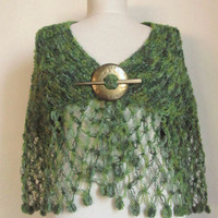 GREEN Multicolor Capelet FREE Worldwide by asuhan on Etsy