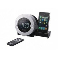 Sony ICF-C7IP Clock Radio for iPod and iPhone with Hidden Sliding Dock Tray: Home & Garden