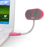 JLab USB Laptop Speakers - Portable, Compact, Travel Notebook Speaker for Windows PC and Mac - B-Flex Hi-Fi Stereo USB Laptop Speaker - Cotton Candy Pink: Electronics