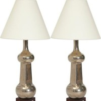 One Kings Lane - Christopher Spitzmiller - Silver Hadley Lamps, Pair