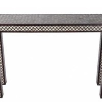 One Kings Lane - Geometric Chic - Bone Inlay Console, Brown
