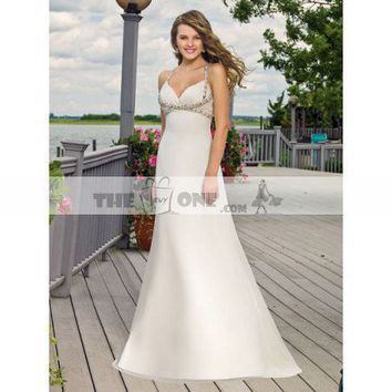 A-line Wedding Gown Sweetheart with Elegant Pleats Sweep Train
