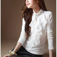 New Korean Autumn Style Rhinestone Pattern T-shirt China Wholesale - Sammydress.com