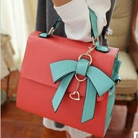 Korea dimensional bow handbag 2346