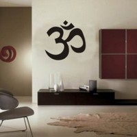 Large Om Symbol Wall Decal Sticker Buddha Absolute Brahman Hindu