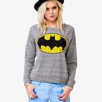 Heathered Batman Raglan Top