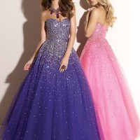 Shining A-line Formal/Quinceanera/Prom Dress/Ball Gown/SZ 6 8 10 12 14/IN STOCK