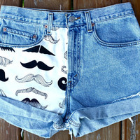 Mustache You a Question Levi&#x27;s by SpikesnSeams on Etsy