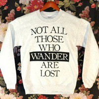 &#x27;Those Who Wander&#x27; Sweater