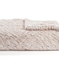 One Kings Lane - Tourance - Two-Tone Zebra Throw, Cream/Camel