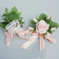 Beautiful Silk Ribbon Wrist Flower For Bride China Wholesale - Sammydress.com