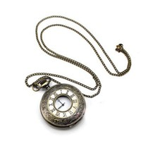 Vintage Pocket Watch Pendant Necklace at online vintage jewelry store Gofavor