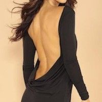 Black Little Black Dress - Classic backless dress | UsTrendy