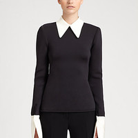 Alexander McQueen - Contrast Collar Top