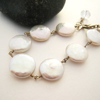 Pearl Bracelet Wedding Bridesmaids Gift For Her