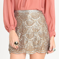 Uptown Gala Sequin Skirt - &amp;#36;74.00 : ThreadSence.com, Your Spot For Indie Clothing  Indie Urban Culture