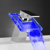 Creative LED Centerset Glass Basin Faucet EX0815F