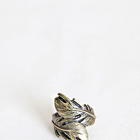 Feathered Finger Brass Ring - $12.00 : ThreadSence.com, Your Spot For Indie Clothing  Indie Urban Culture