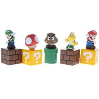 Set of 5 Super Mario Figure Toy Cube Brick China Wholesale - Sammydress.com