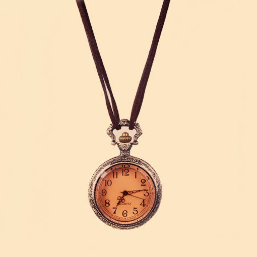 $8.99  Vintage Pocket Watch Pendant String Necklace at Online Jewelry Store Gofavor