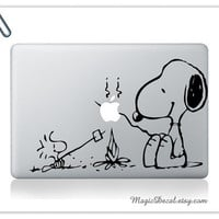 Snoopy1Macbook Decals Macbook Sticker Mac Decals for by MagicDecal