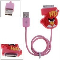Dock Connector to USB Power &amp; Data Cable for iPhone 4S, iPhone 4, iPhone 3G/3GS, iPod - Angry Birds